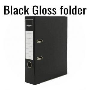 2-Ring  Black Gloss Folder