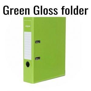 2-Ring  Green Gloss Folder