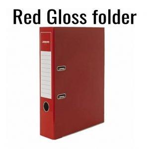 2-Ring  Red Gloss Folder