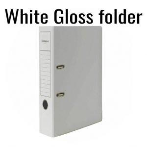 2-Ring  White Gloss Folder