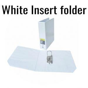 2-Ring  White Insert Folder