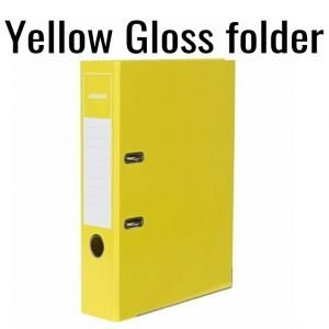 2-Ring  Yellow Gloss Folder